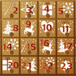 Advent calendar — Stock Vector