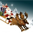 Magic Santa Claus sleigh — Stock Vector