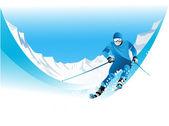 лыжник — Cтоковый вектор