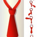 Red tie — Stock Vector