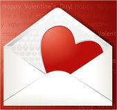 Valentine's heart in envelope — Stock Vector