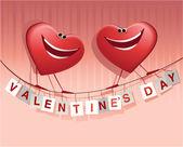 счастливые сердца валентина — Cтоковый вектор