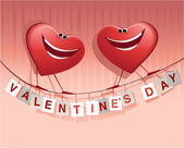 Valentine's happy hearts — Stock vektor