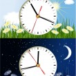 Stock Vector: Day and night