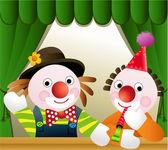 Clown freunde — Stockvektor