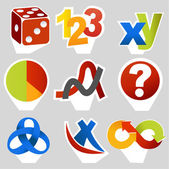 Math related symbols — Stock Vector