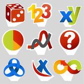связанные математические символы — Cтоковый вектор