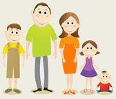 Cartoon happy family — Stock Vector
