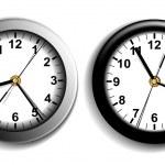 dos relojes de pared — Vector de stock  #6750078