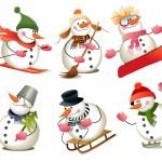 Cartoon snowman — Stock Vector #6770595