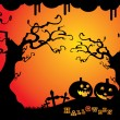 Fondo Halloween — Vector de stock #12585544