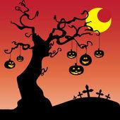 Cadılar bayramı kartı — Stok Vektör