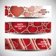 Vector set of three Valentines Day header designs - Stock Vector