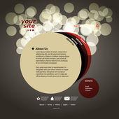 Abstract web site design template vector — Stock Vector