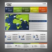 Modello di sito web — Vettoriale Stock