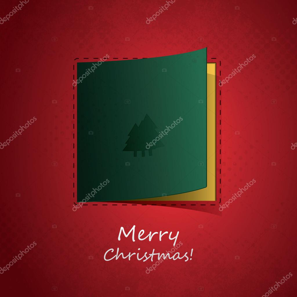Abstract red christmas flyer, cover or greeting card - illustration in freely editable vector format — Stock Vector #14110475