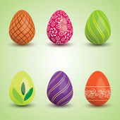 Set of easter eggs — Stockvector