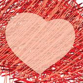 Valentins Tag Herz abstrakt — Stockvektor