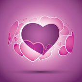 Hearts Background Vector — Stock Vector