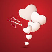 Valentine's Day Card or Background — Stock Vector