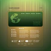 Vector de negocio abstracto sitio web diseño plantilla — Vector de stock
