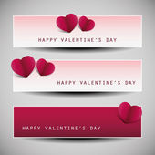 Valentine's Day Banner Designs — Stock Vector