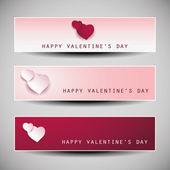 Valentine's Day Banner Designs — Wektor stockowy