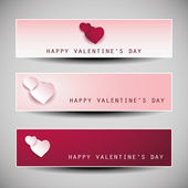 Valentine's Day Banner Designs — Stockvektor