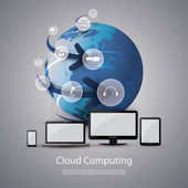 Cloud Computing and Networks Concept — Stock Vector