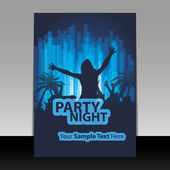 Flyer Design - Party Time — Vettoriale Stock