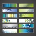 12 Blank Banner Designs — Stock Vector