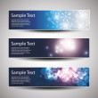 Set of horizontal Christmas or New Year banners — Stock Vector