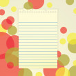 Notepaper on Abstract Background — Stock Vector