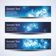 Set of Christmas or New Years banners - Stock Vector