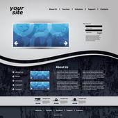Modelo de site — Vetor de Stock
