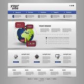Web sitesi şablonu — Stok Vektör