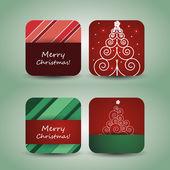 Noel el ilanı veya kapak tasarımı — Stok Vektör