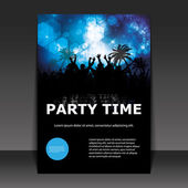 Party Time - Flyer or Cover Design — Stock Vector