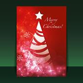 圣诞传单或封面设计 — 图库矢量图片