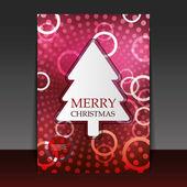 Vánoční leták nebo cover design — Stock vektor
