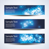 Set of Christmas or New Years banners — Stock Vector