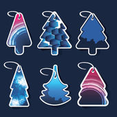 Christmas tree price tags or cards — Stock Vector