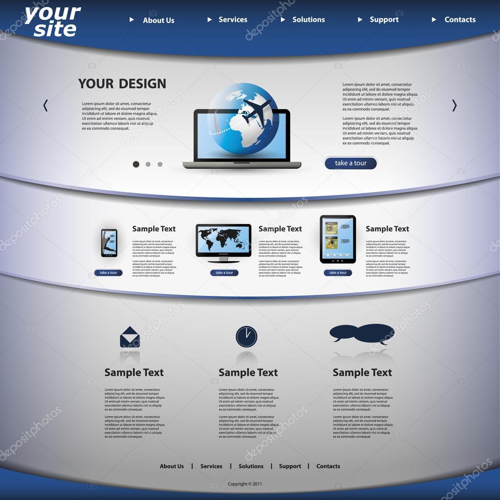 website template stock vector bagotaj 23231558. Black Bedroom Furniture Sets. Home Design Ideas