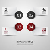 Infographic Design — Vector de stock