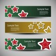 Vector Set of Christmas Headers — Stock Vector