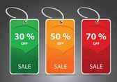 Descuento tarjetas, etiquetas, etiquetas — Vector de stock
