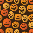 Halloween Pumpkins Background — Stockvectorbeeld
