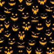 Halloween Pumpkins Background — Stock Vector