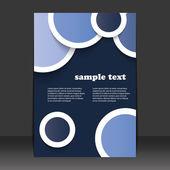 Flyer of cover ontwerp — Stockvector