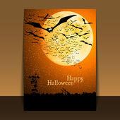 Halloween Flyer or Cover Design — Stock Vector